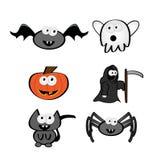 De leuke Karakters van Halloween Stock Afbeeldingen