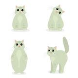 De leuke Kat in verschillend stelt in vlak ontwerp stock illustratie