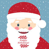 De leuke Kerstman De prentbriefkaar van Kerstmis Royalty-vrije Stock Foto