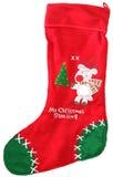 De leuke Kous van Kerstmis Stock Foto's