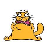 De leuke krabbel oranje kat kijkt als een schok vectoriillustration vector illustratie