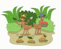 De leuke mieren kweken gewassenbeeldverhaal stock illustratie