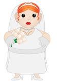 De leuke Mollige Bruid van het Beeldverhaal Stock Afbeeldingen