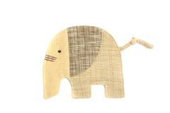De leuke olifant naait door doek Stock Fotografie