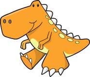 De leuke Oranje Vector van de Dinosaurus Royalty-vrije Stock Foto