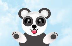 De leuke panda draagt hemel Stock Afbeelding