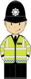 De leuke politieagent van het Beeldverhaal Stock Afbeelding