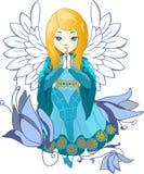 De leuke Praing-vector van het Engelenbeeldverhaal stock illustratie