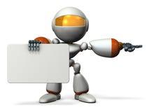 De leuke robot met berichtraad, richt Stock Foto's