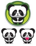 De leuke Romantische Panda draagt Stock Afbeelding