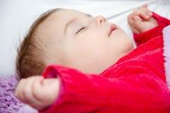 De leuke slaap van het babymeisje Royalty-vrije Stock Afbeelding