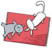 De leuke speelillustratie van het kattenbeeldverhaal Royalty-vrije Stock Foto's