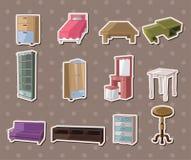 De leuke stickers van het beeldverhaalmeubilair Royalty-vrije Stock Afbeeldingen