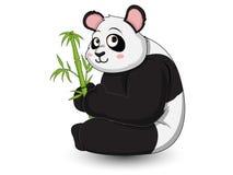 De leuke vector van het Pandabeeldverhaal Stock Foto