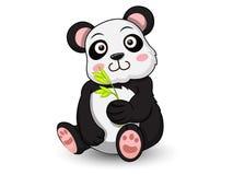 De leuke vector van het Pandabeeldverhaal Royalty-vrije Stock Afbeelding