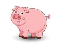 De leuke vector van het varkensbeeldverhaal Stock Foto