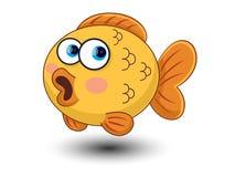De leuke vector van het vissenbeeldverhaal Stock Fotografie