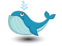 De leuke vector van het Walvisbeeldverhaal Royalty-vrije Stock Fotografie