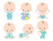 De leuke Vectorillustratie van de Babyjongen royalty-vrije illustratie