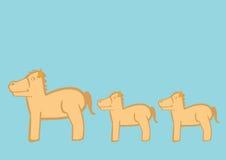 De leuke Vectorillustratie van Beeldverhaalponeys Stock Afbeeldingen