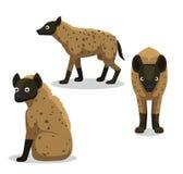 De leuke Vectorillustratie van het Hyenabeeldverhaal stock illustratie
