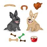 De leuke vectorillustratie van hond Schotse Terrier Royalty-vrije Stock Afbeelding