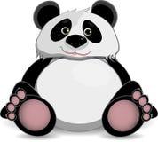 Leuke vette panda stock illustratie