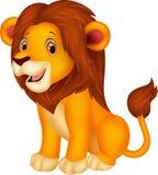 De leuke zitting van het leeuwbeeldverhaal Stock Afbeelding