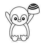 De leuke zoete bonbon van de pingu?nchocolade vector illustratie