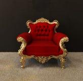De leunstoel van de luxe met gouden frames Royalty-vrije Illustratie