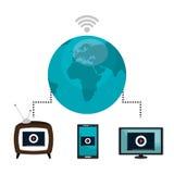 De levende stroom van TV vector illustratie