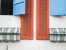 De levendige kaders van de kleurrijke muur. Stock Afbeelding