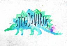 De levendige kleur van Dynosaurstegosaurus Royalty-vrije Stock Afbeeldingen
