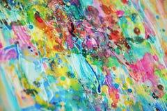 De levendige kleurrijke vage gouden verf van de de vlekken levendige waterverf van de luik roze was, kleurrijke tinten Stock Foto's