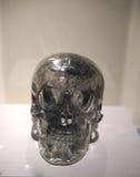 De levensgrote schedel van het kwartskristal - details Royalty-vrije Stock Afbeeldingen