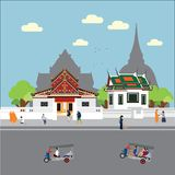 De levensstijl van Bangkok Thailand royalty-vrije stock afbeelding