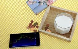 de levensstijl van de beurssfeer elke dag Stock Foto