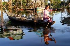 De levensstijl van het dorp, Kambodja Royalty-vrije Stock Afbeeldingen