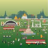 De levensstijleps 10 van Bangkok Thailand formaat Stock Afbeeldingen