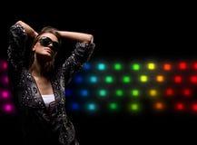 De levensstijlmeisje van de nachtclub Stock Afbeelding