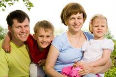 De levensstijlportret van de familie Royalty-vrije Stock Afbeelding