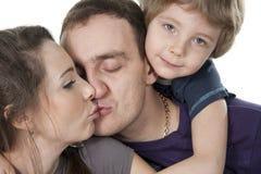 De levensstijlportret van de familie Stock Afbeelding