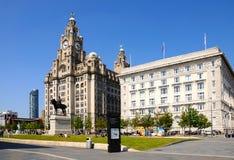 De leverbouw en Cunard-de Bouw, Liverpool Stock Afbeeldingen