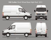 De Levering Van Blueprint van VW Crafter SWB Stock Foto's