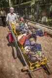 De Levering van de handkar van Lunchen Stock Foto