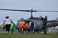 De levering van de helikopter stock afbeeldingen
