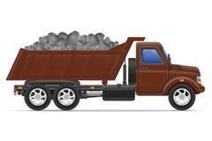 De levering van de ladingsvrachtwagen en vervoer van bouwmateriaal Stock Afbeeldingen