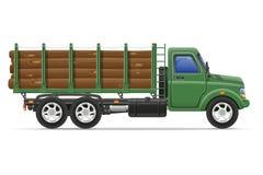 De levering van de ladingsvrachtwagen en vervoer van bouwmateriaal Royalty-vrije Stock Foto's