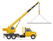 De levering van de ladingsvrachtwagen en vervoer van bouwmateriaal Stock Afbeelding