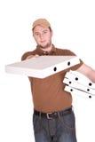 De levering van de pizza Stock Afbeeldingen